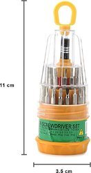 Magnetic Precision Screwdriver Tool Set - 31 In 1 (Yellow)