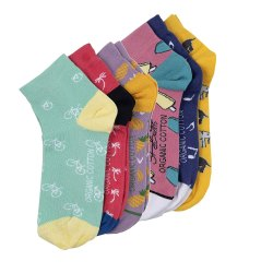 Multicolor SWHF Organic Cotton Ankle Formal Unisex Designer Socks Set, Size: Free Size