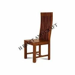 Solid Wood High Back Chair For Home/Cafe/Hotel/Bar and Restaurant Furniture