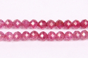 Ruby Shaded Round Micro Faceted