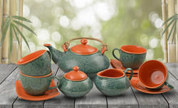 Style My Way Ceramic Handcrafted 15 Pcs Tea Set