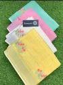 Linen Check Embroidered Sarees