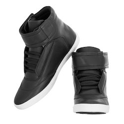 TTS PVC Ladies Black Winter Shoes, Rs