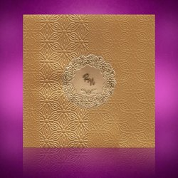 Luxury Designer Wedding Invitation Cards, Size: 7.5x7.5 inches