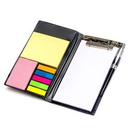 Memo Note Book with Sticky Notes & Clip Holder