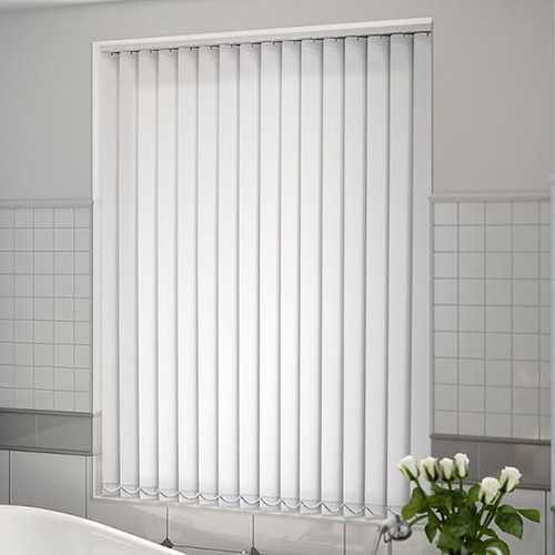 PVC White Plain Vertical Blind