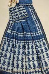 Bagru Hand Block Print Chanderi Dress Materials with Dupatta