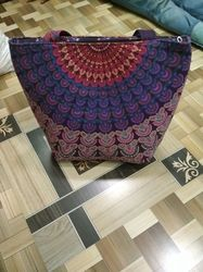 Cotton Fabric Casual Wear Traditional Printed Bag