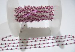 Fancy Lab Created Ruby Beaded Chain