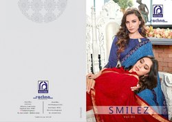 Rachna Georgette Smilez Catalog Saree Set For Woman