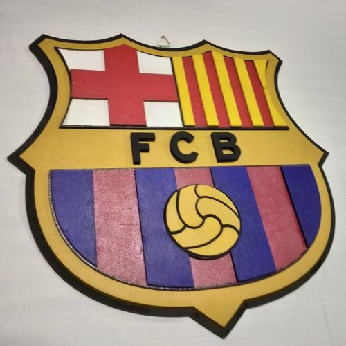 MDF Printed FC Barcelona Football Team Logo, Size: 10-12 ...