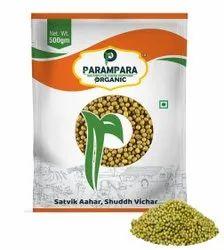 Parampara Organic Green Gram Whole (Moong), Gluten Free, Packaging Size: 500 g