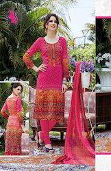 Ladies Pink Cotton Salwar Kameez