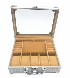 Luxury Aluminum Watch & Jewelry Suitcase Storage with Handle Watches Box
