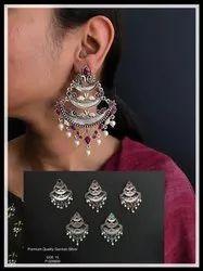 German Silver Earrings GSE 15