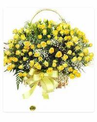 Delightful Yellow Basket
