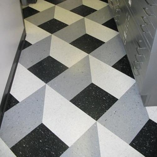 Checkered Vinyl Flooring Service