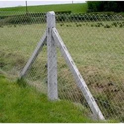 Chain Link Fencing With Cement Pole