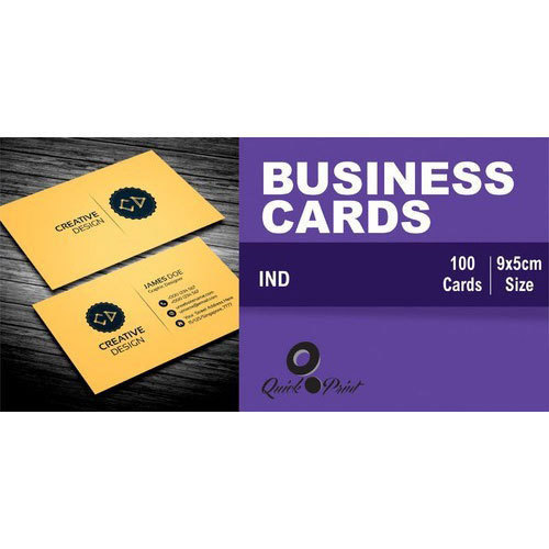 Rectangular Printed Business Card Size 9x5 Cm Rs 175 Pack Id