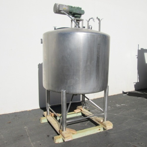 Stainless Steel Dimple Jacketed Storage Vessel, Capacity: 100-500 L