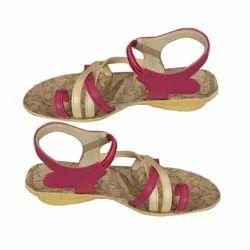 Ladies PU Sole Casual Sandal, Size: 4-6