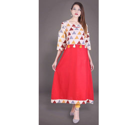 Colour Block Kurti