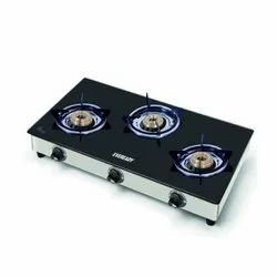 Eveready Stainless Steel 3 Burner Gas Stove, for Kitchen