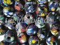 Collection Of Frosted Glass Beads
