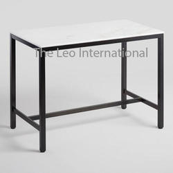 Iron and Marble Decorative Table large size
