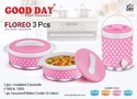 Floreo 3 Pc Picnic Set (2 Casserole 1500 Ml/ 1 Water Jug)