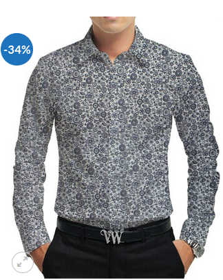 aa6fc3b14 Shirt Fabrics - Off White Cotton Beige Blue Floral Print Fabric Shirt  Retailer from Rohtak