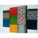 Party Wear Silk Cotton Saree, 6.5 Meter