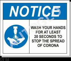 Covid19 Signage:  Notice Wash Your Hands