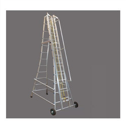 Small HDPE Wheel Aluminum Tower Ladder