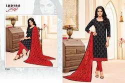 Round Neck Printed Maarisha Salwar Suit Fabric