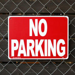 No Parking Board