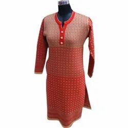 Ladies Full Sleeves Woolen Kurti