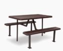 Supreme Brown Plastic Space Saving Canteen Table