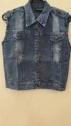 Half Sleeves Women Denim Jackets