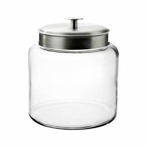 Metal Transparent Decorative Glass Jar For Kitchen Storage Rs 20