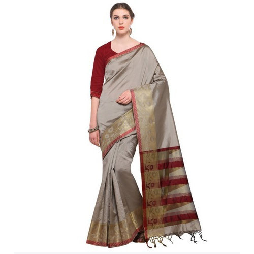 7aadb56a5 Cotton Printed Saree With Blouse Piece