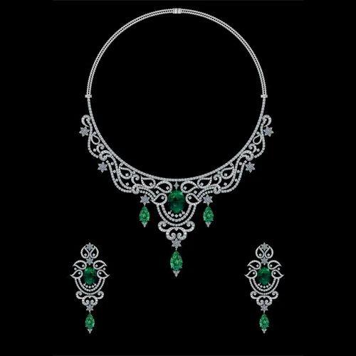 3c4dc19abe417c Vihaan Jewels Diamond Necklace Fancy Set, Rs 1000000 /set, Vihaan ...