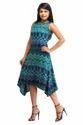 Cottinfab Women's Asymmetric Multicolor Dress