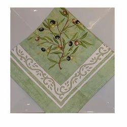 Multicolor Cotton Border Printed Napkin, Size: 40 X 40 Cm
