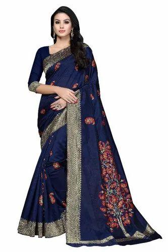 a96dfee679 Multicolor Bridal Wear Bridal Silk Saree, 6.3 M (with Blouse Piece ...