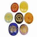 7 Chakra Engraved Oval Set