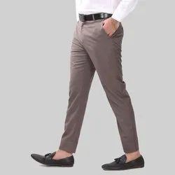 Lee-Mount Cotton Mens Light Brown Casual Pants, Size: 28-40 Inch