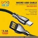 Black Od Cdc 623 Micro Usb Cable, For Mobile Phone