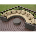 Patio Pe Rattan Wicker Section Sofa Set For Garden, Warranty: 1 Year