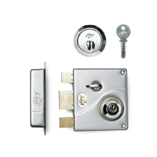Godrej Ultra Tribolt Satin Nickle 2C Rim Lock